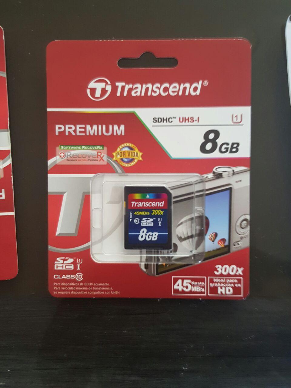Walmart Cd. del Carmen:  Tarjeta de memoria SD, Transcend C10 de 8Gb a $49.01
