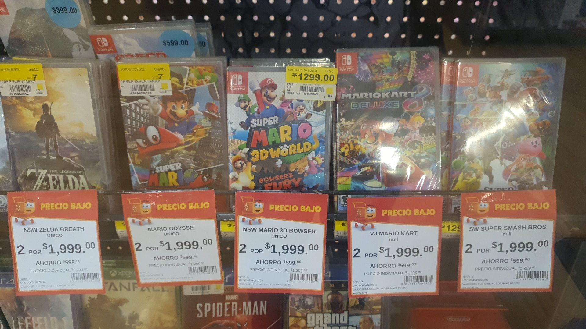 Walmart Linda Vista: 2 juegos de la imagen por 1999. Tienen que ser 2 del mismo