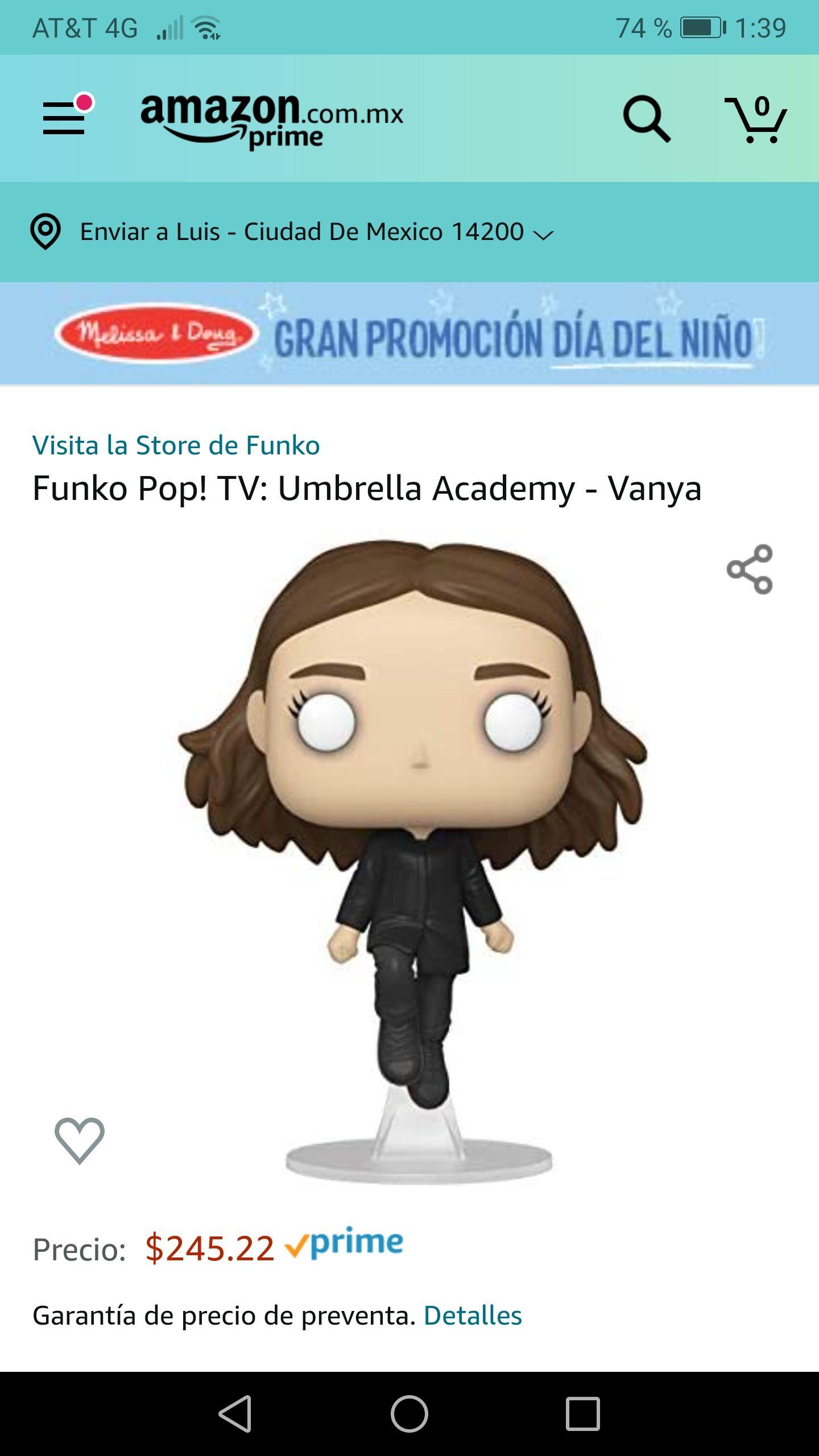 Amazon: Preventa - Funko Pop Umbrella Academy Vanya