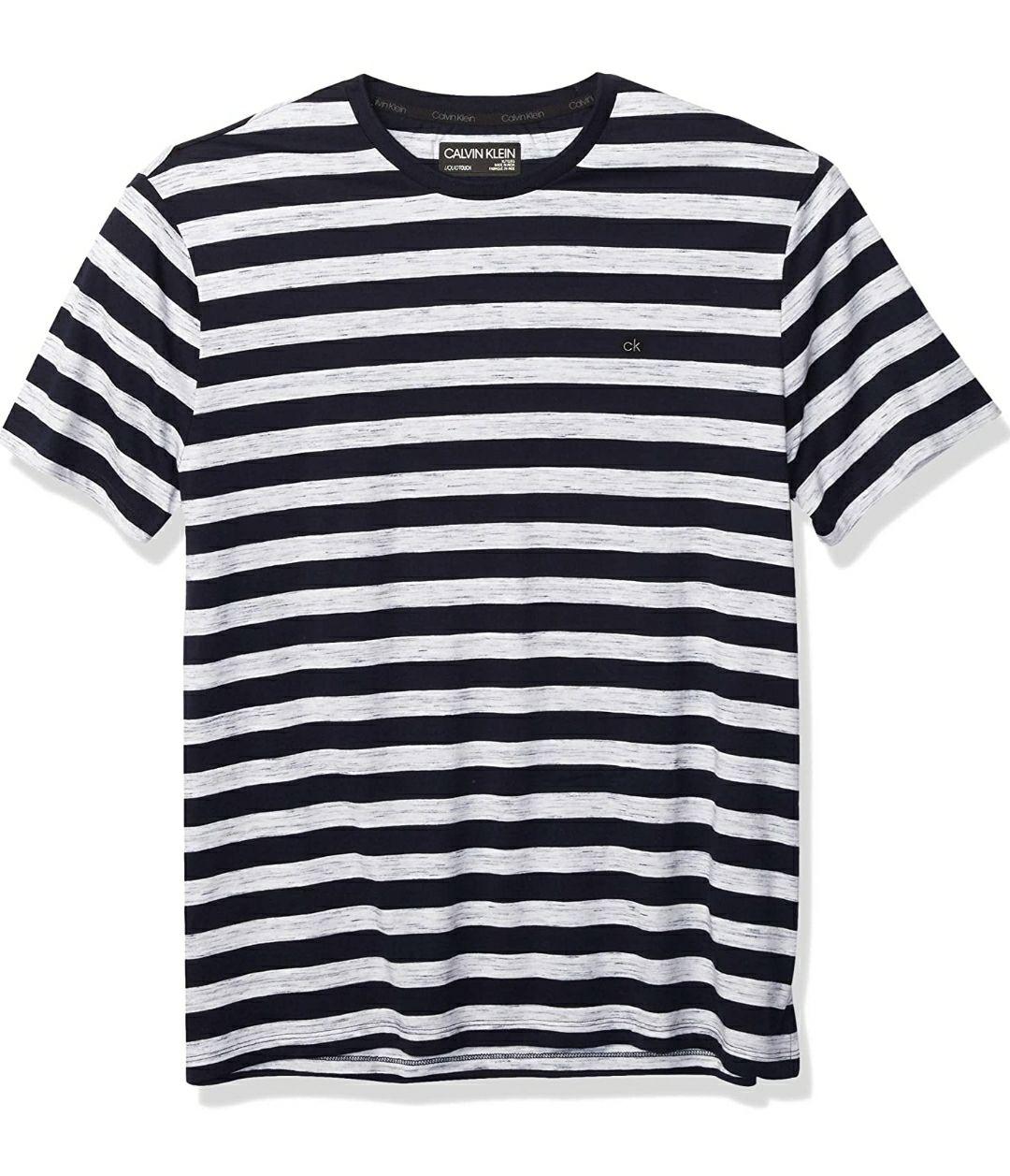 Amazon, Calvin Klein Camiseta de Manga Corta para Hombre con Cuello Redondo y protección UV