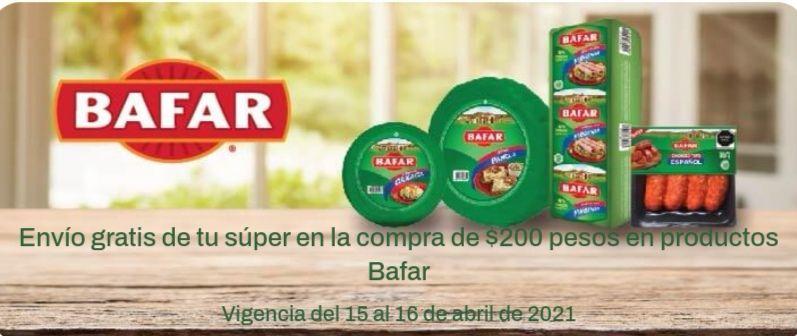 Chedraui: Envío gratis en super en la compra de $200 en productos Bafar