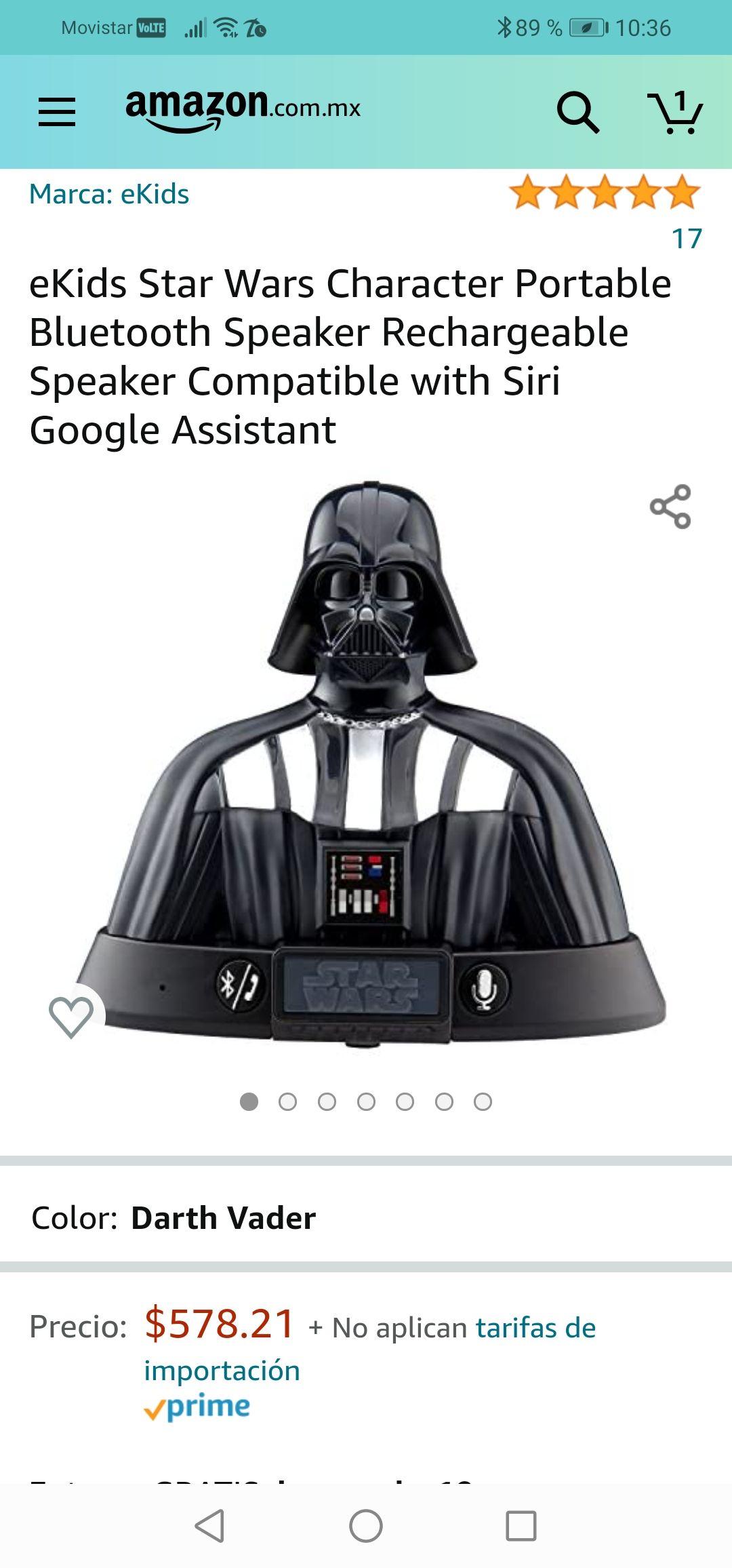 Amazon : Bocina star wars compatible con google asistente únete al lado oscuro de la fuerza.