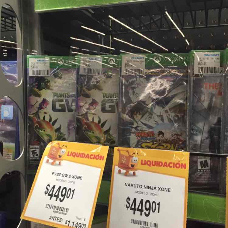Walmart: PVZ GW 2 y Naruto Ninja para Xbox One a $449.01