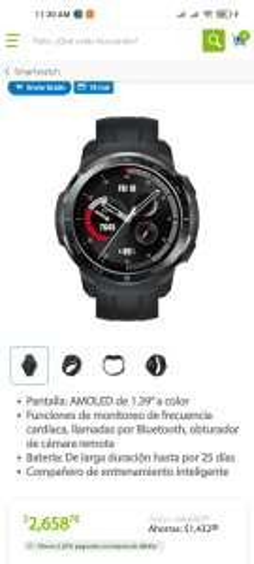 Sams club en línea - Smartwatch honor gs pro