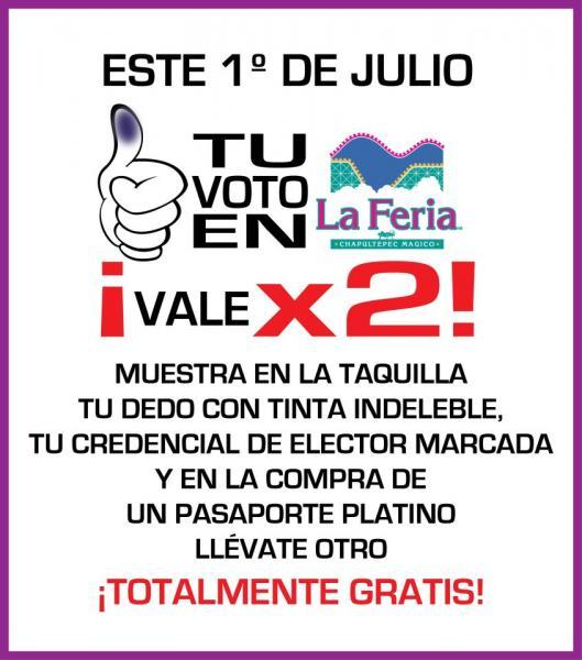 2x1 en La Feria de Chapultepec, Six Flags, Africam Safari y Selva Mágica si votas