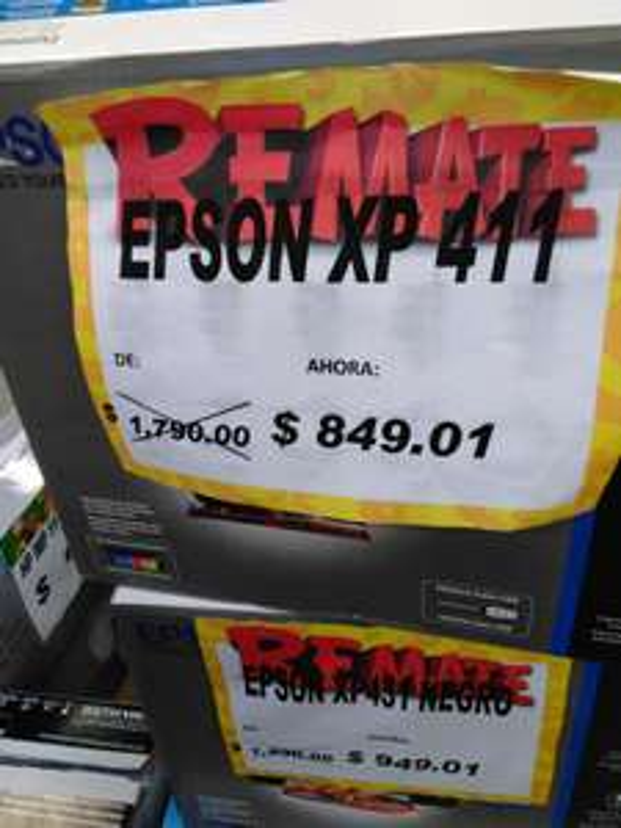 Bodega Aurrerá Tampico: epson xp 411 y otras en liquidación