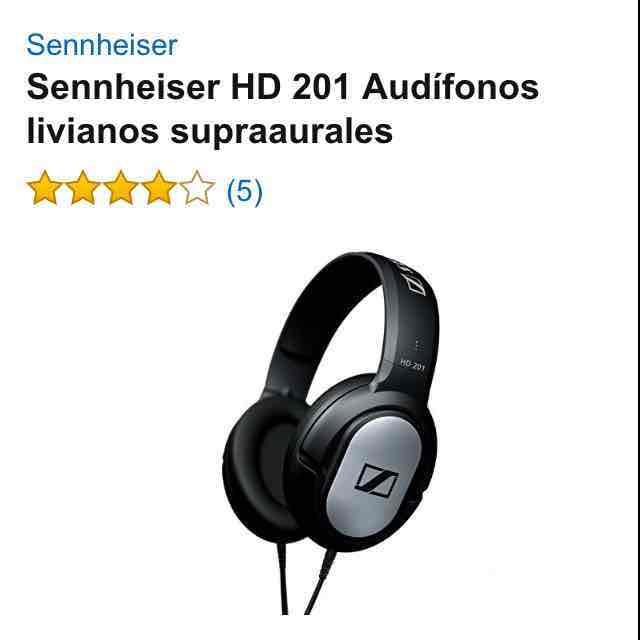 Amazon: Audífonos Sennheiser HD 201