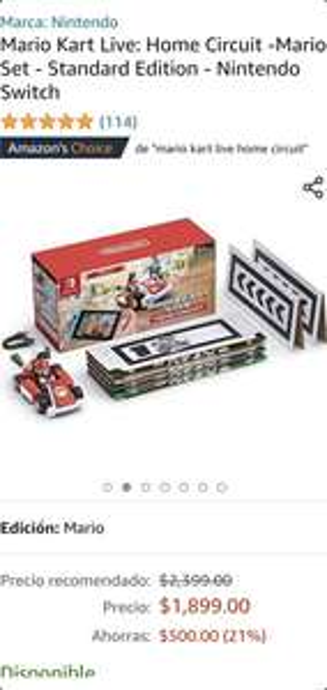 Amazon Mario Kart Home Circuit Mario