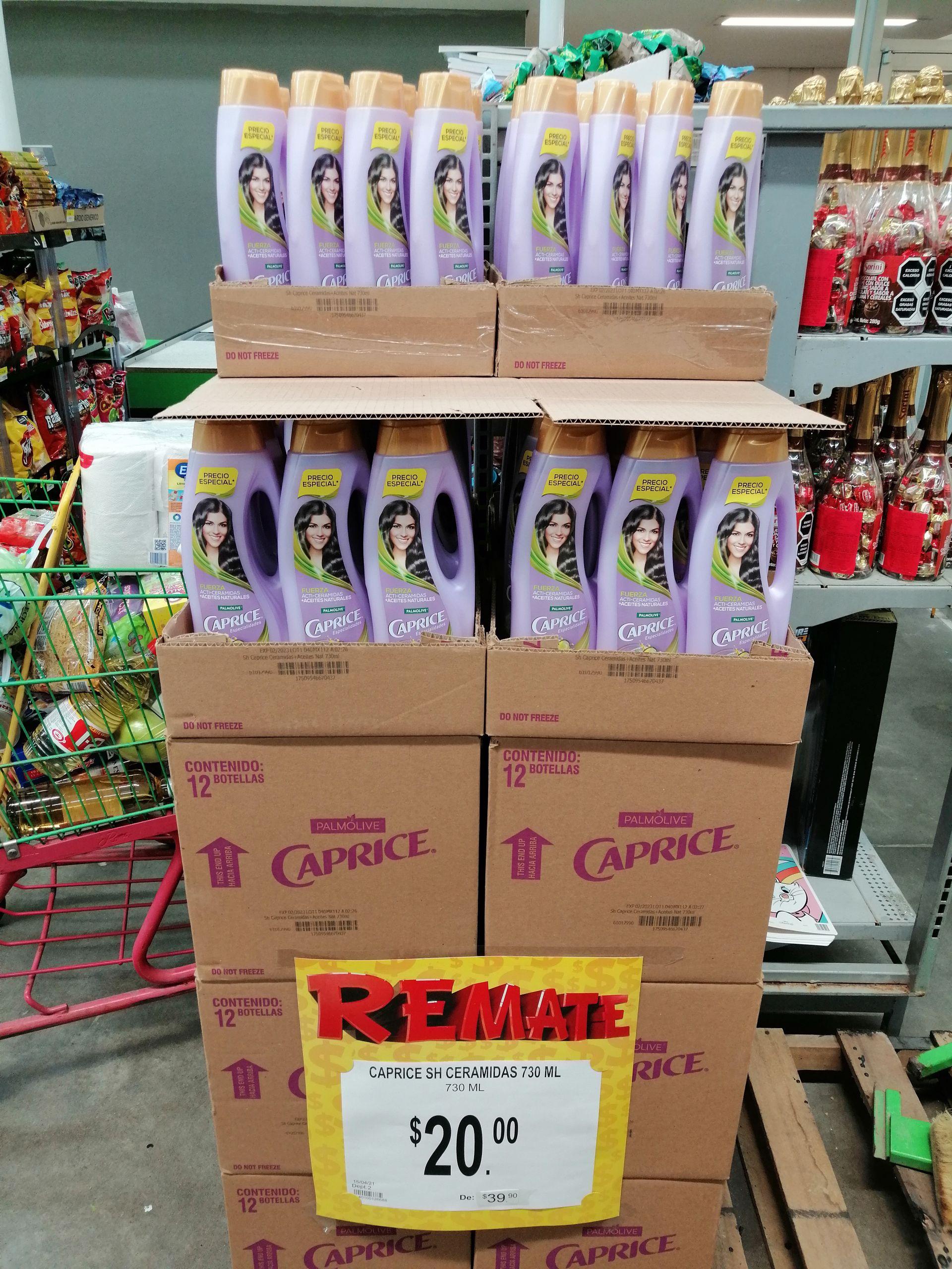 Bodega Aurrera Iguala: Shampoo Caprice con cerámidas 730ml.