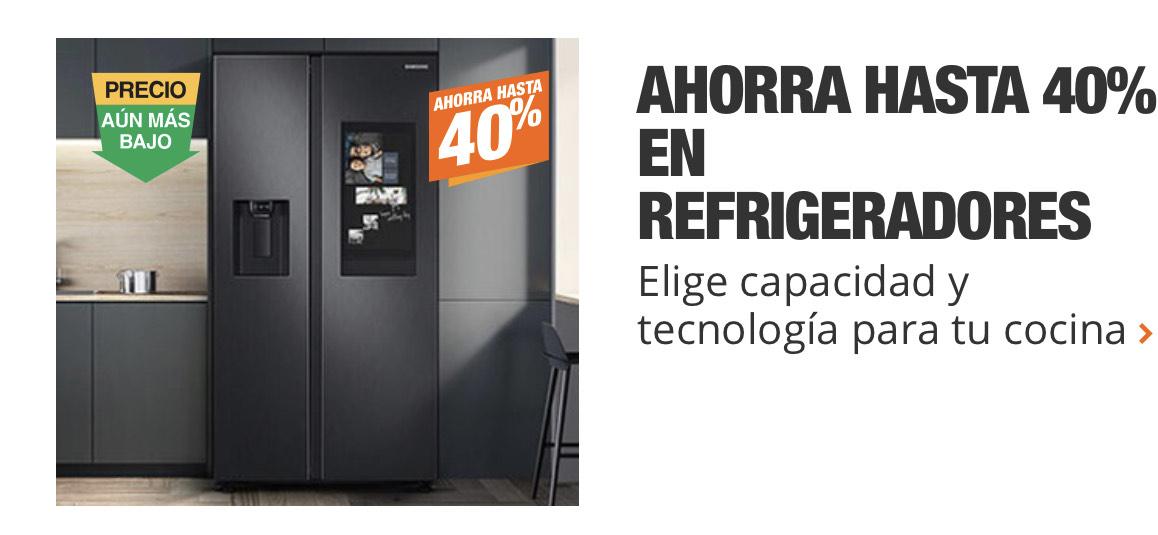 Home depot: hasta 40% de descuento en refrigeradores