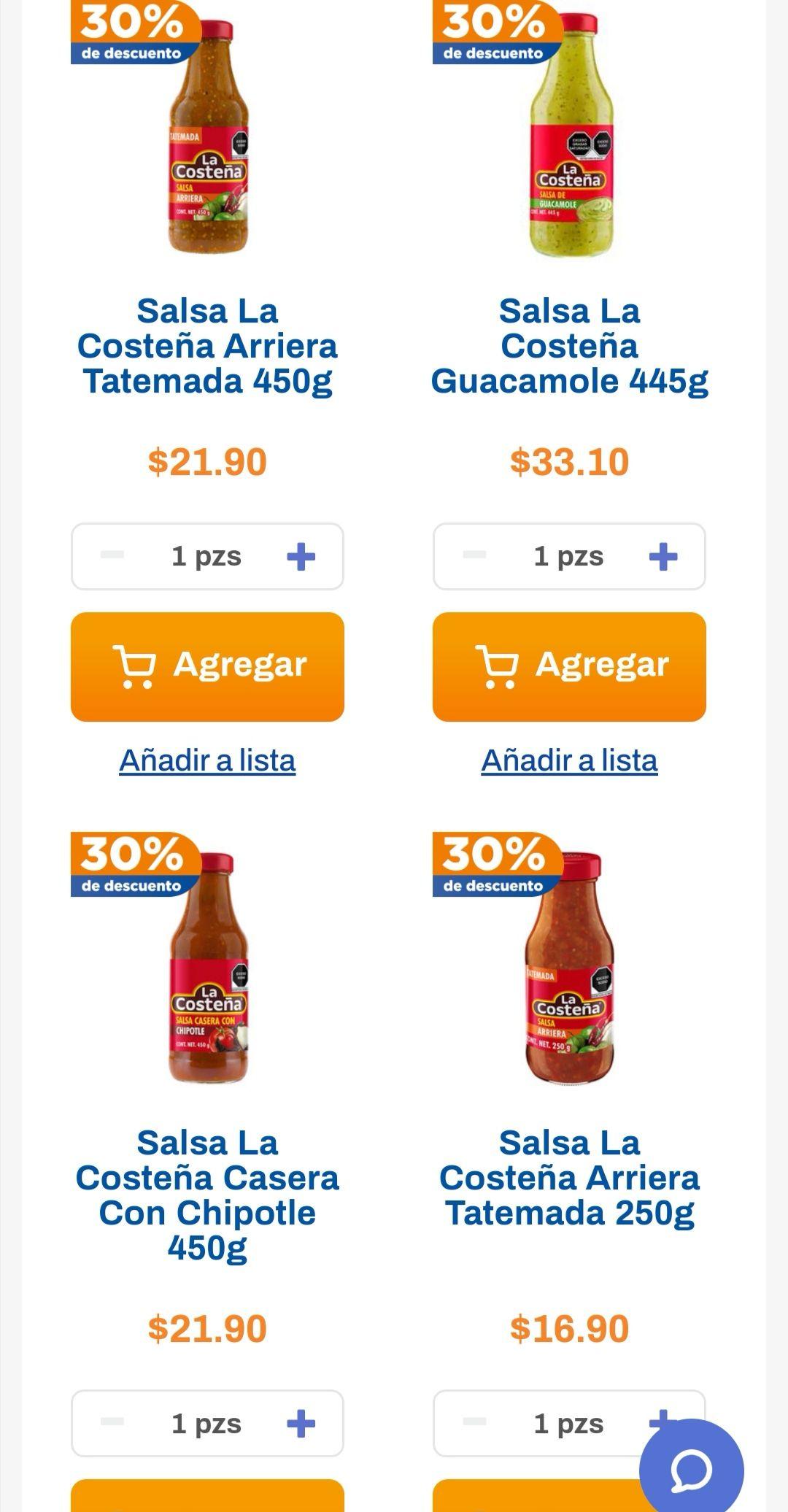 Chedraui: 30% de descuento en salsas caseras La Costeña