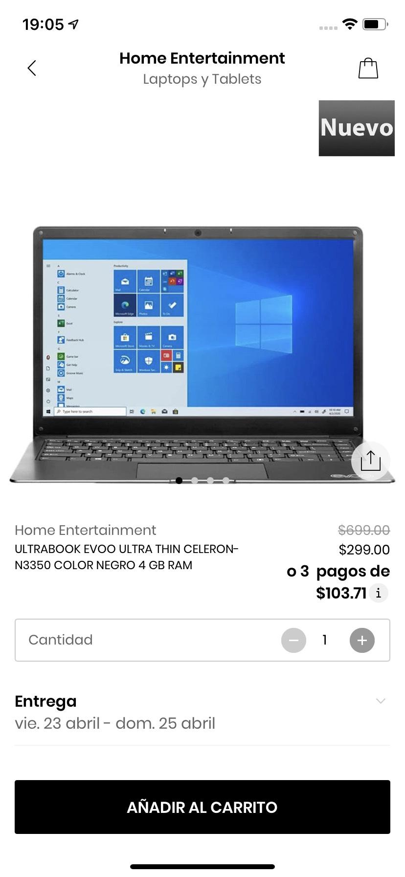 Privalia: Laptop Dell