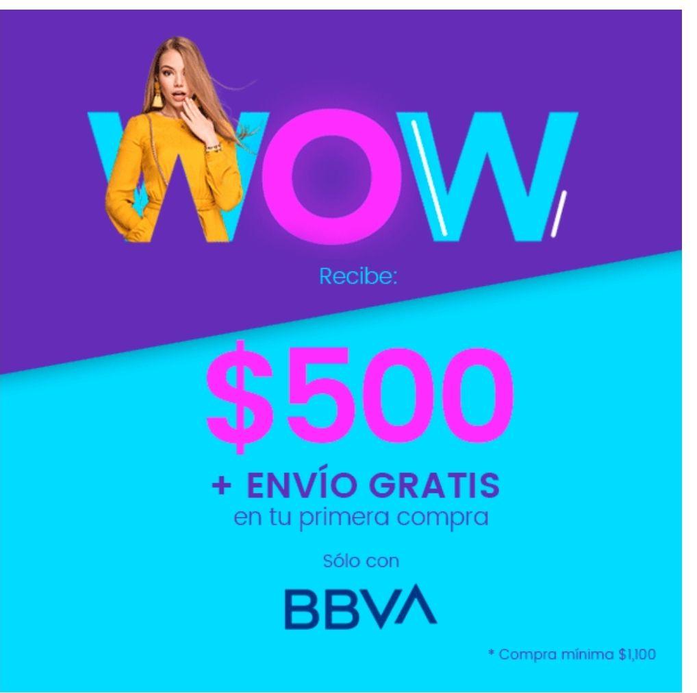 Privalia: 500 de descuento + envío gratis solo tarjeta digital BBVA, compra mínima de $1,100