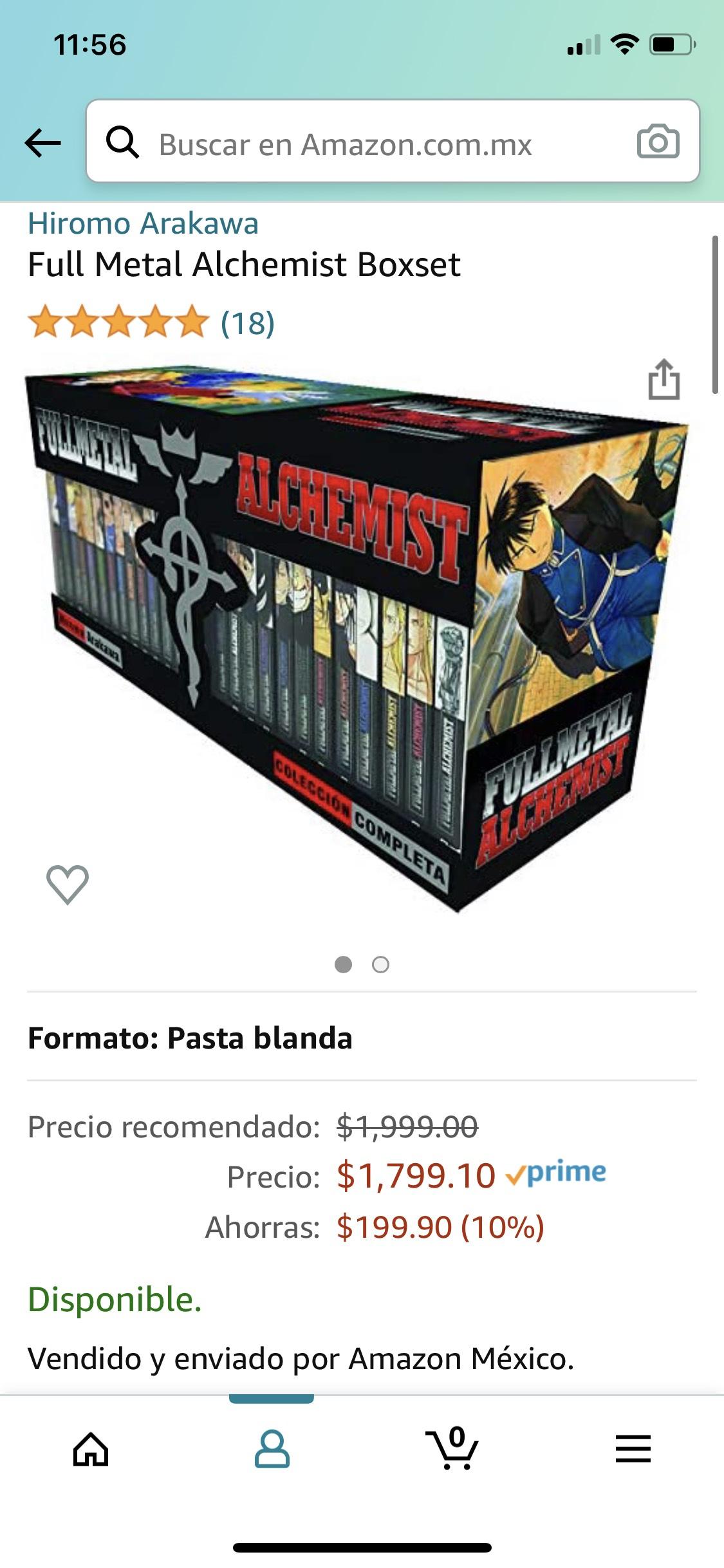 Amazon - Fullmetal Alchemist Boxset - 27 tomos - Panini