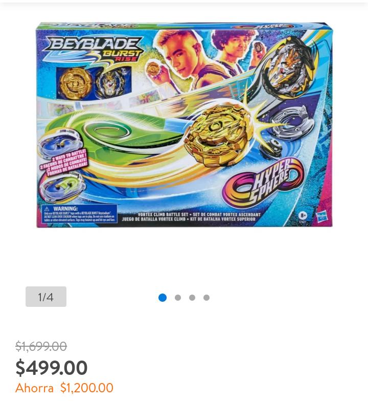 Walmart: Set de Juego Beyblade Hasbro Bey Feature Battle