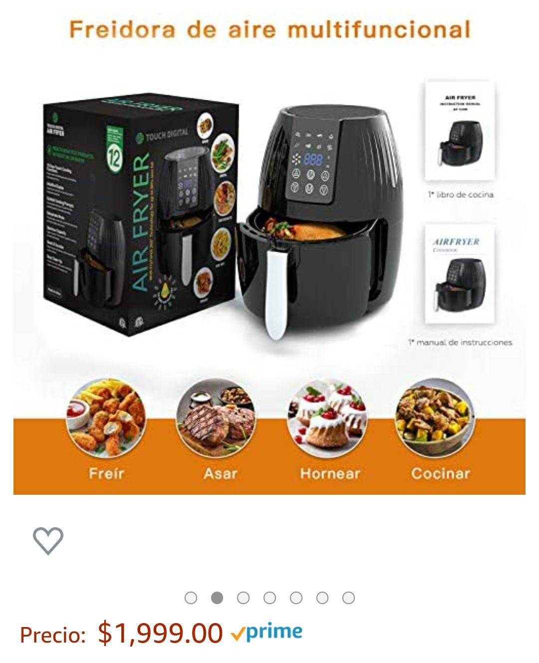 Amazon: Freidora de aire 5.5 lt