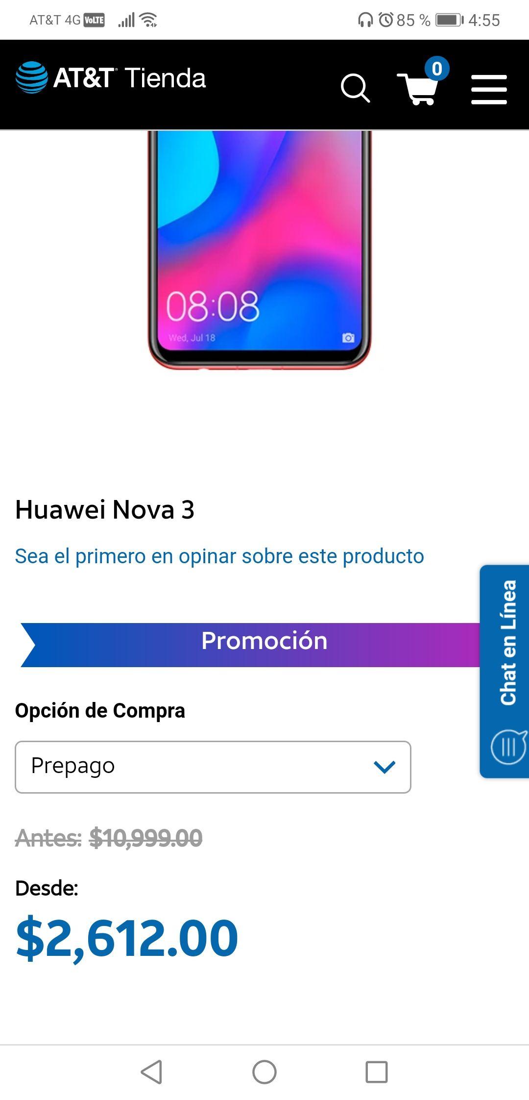AT&T: Huawei Nova 3 $2612