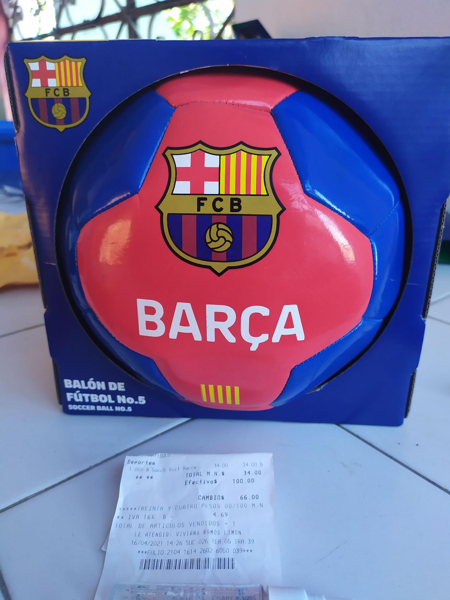 Chedraui: balón soccer voit Barcelona