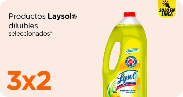 Chedraui: 3 x 2 en productos Lysol diluibles seleccionados