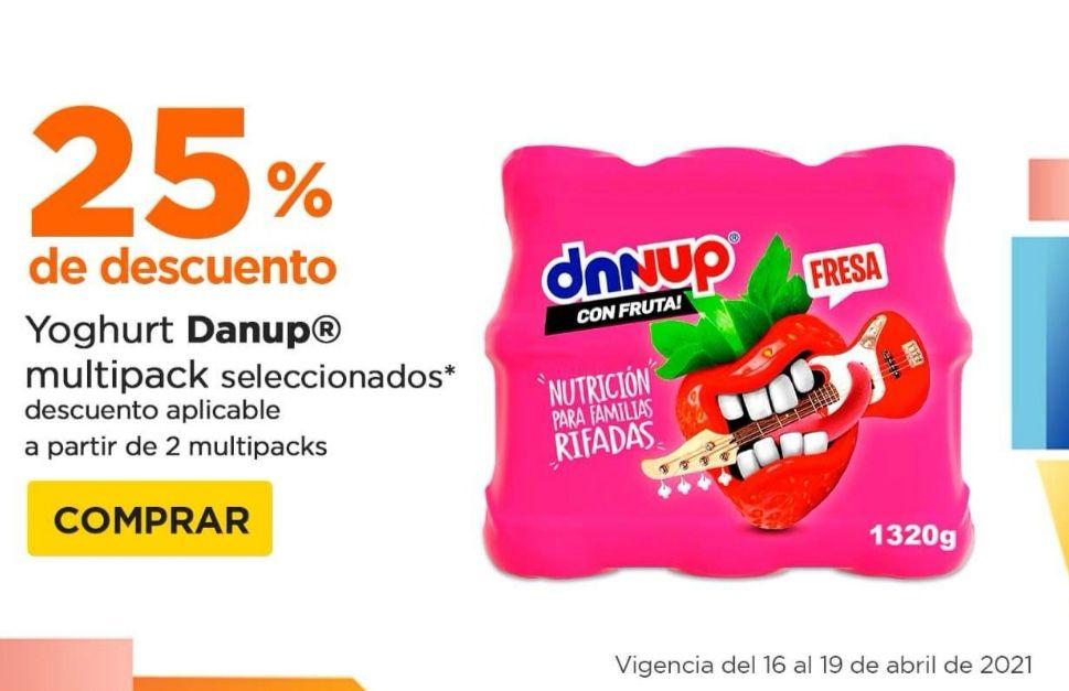 Chedraui: 25% de descuento en la compra a partir de 2 Multipacks de Yoghurt Danup seleccionados