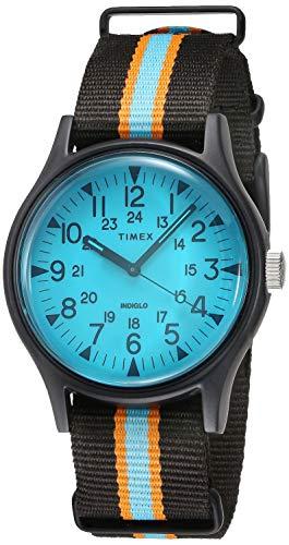 Amazon: Reloj Timex Carátula Azul 40mm indiglo