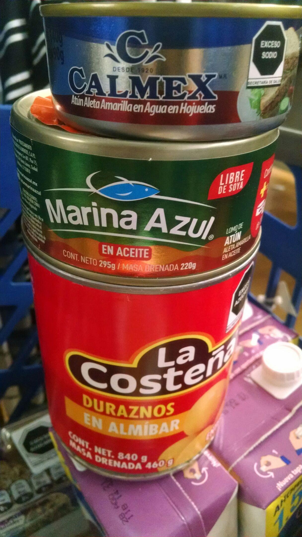 Walmart Mexicali: atún, ATUN y duraznos enteros