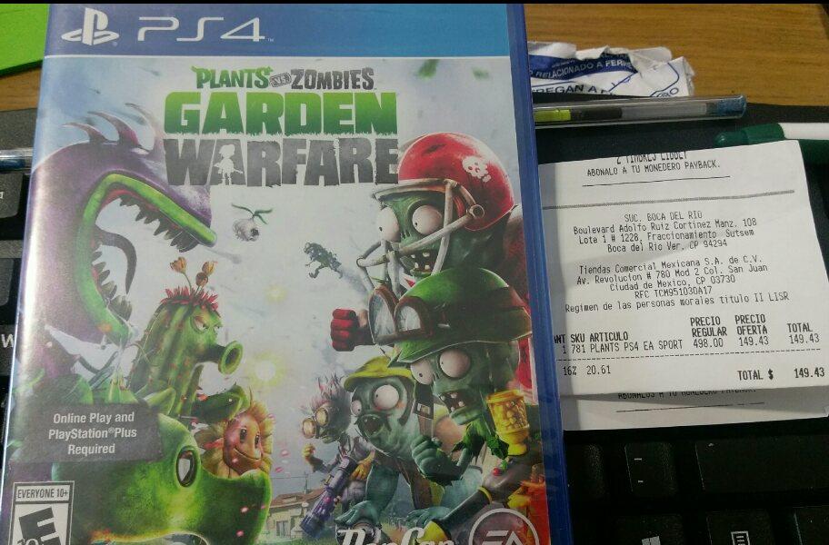 Comercial Mexicana: Plantas vs Zombies PS4 a $149