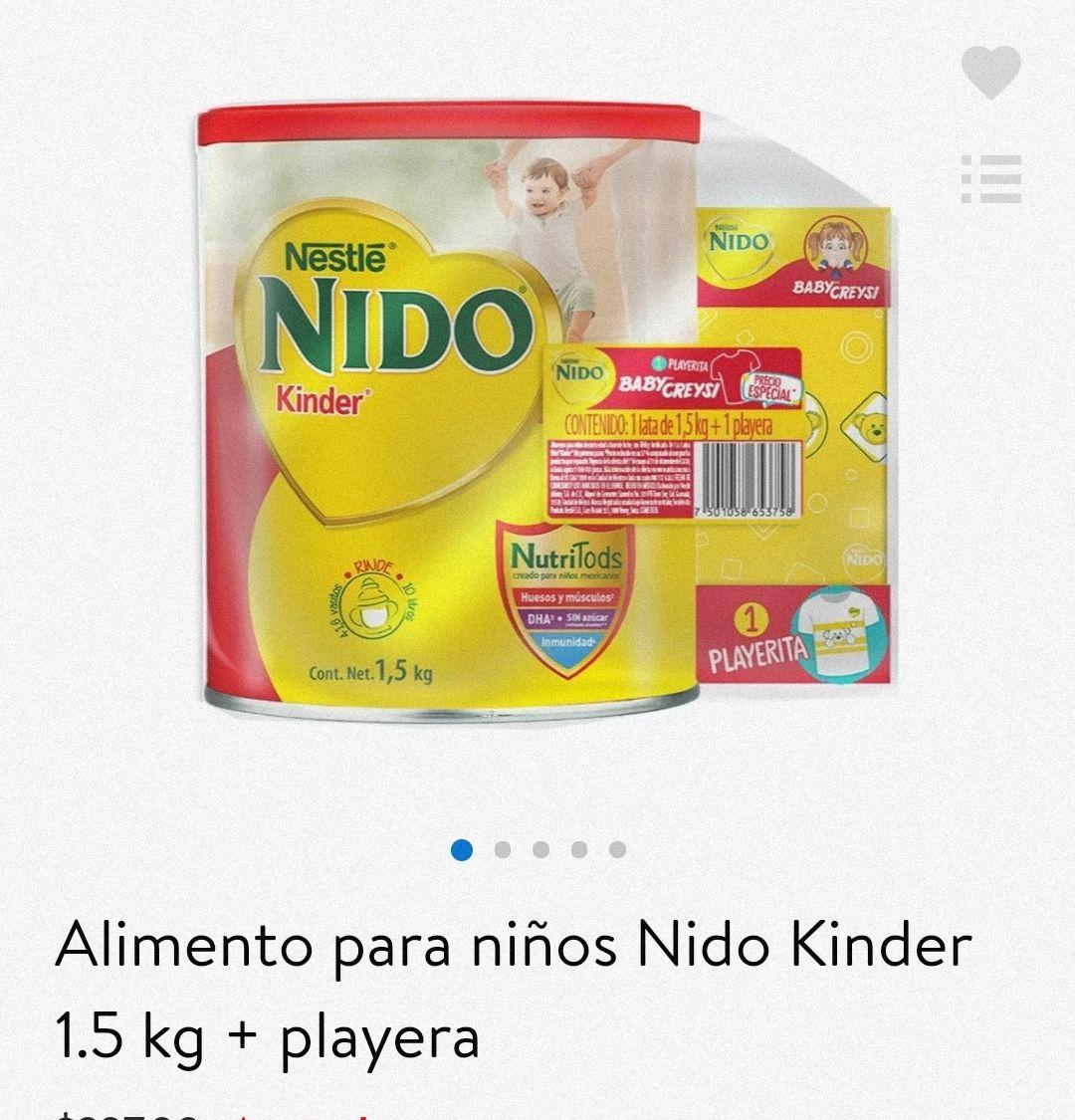 Bodega Aurrera: Nido Kinder 1.5 kg + playera