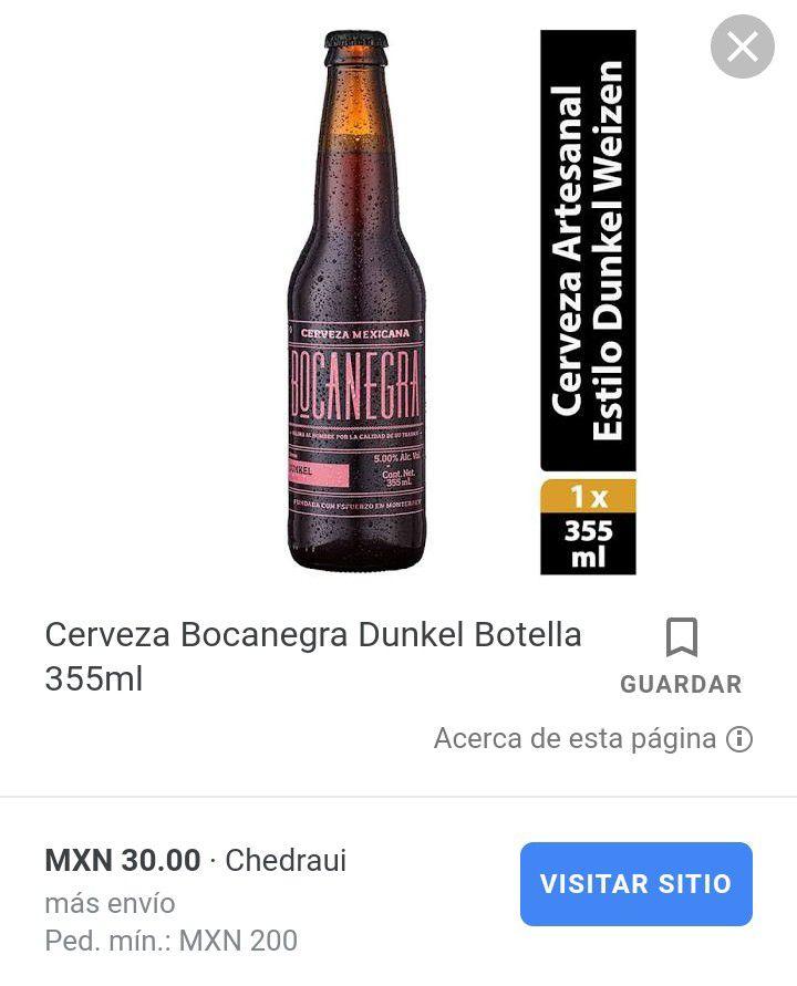 Walmart: Pack de 4 cervezas Bocanegra a $3.01 (compré el doce a menos de $10 pesitos), pero sin promonovela :(
