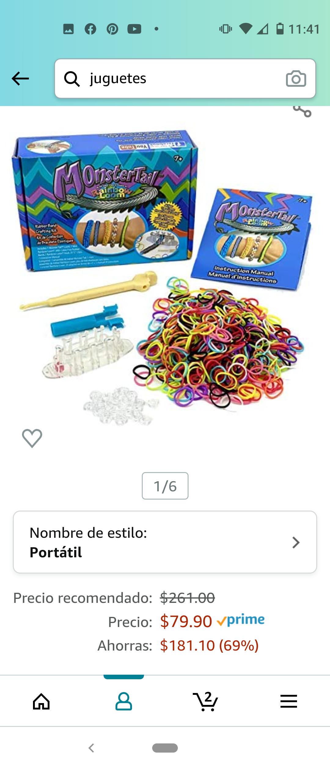 Amazon: Rainbow Loom Kit para Hacer Pulseras y Accesorios con Ligas