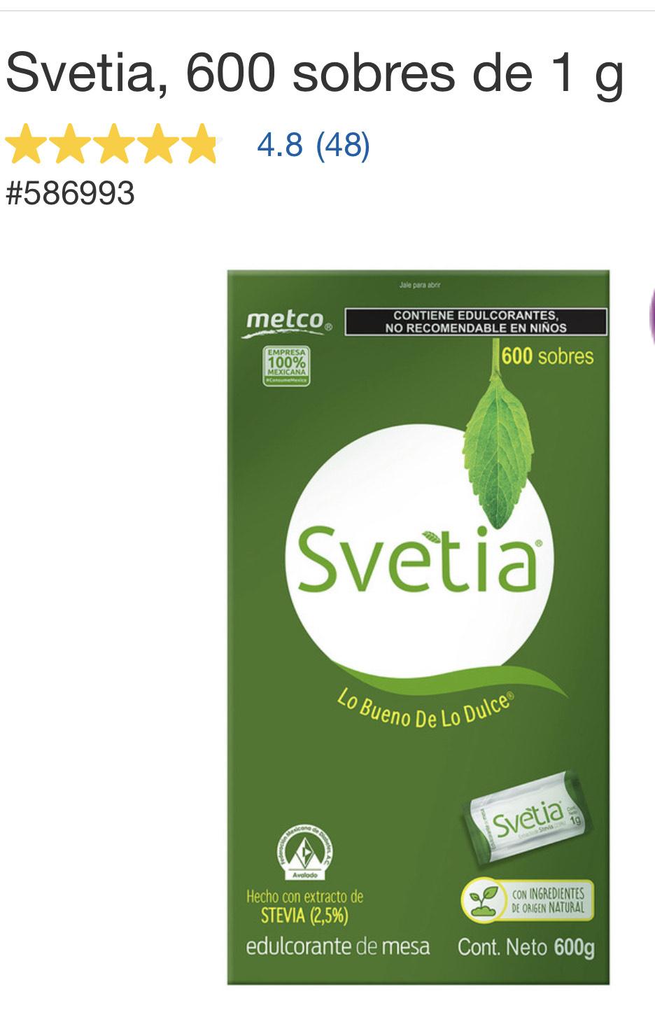 Costco: 600 sobres de Svetia