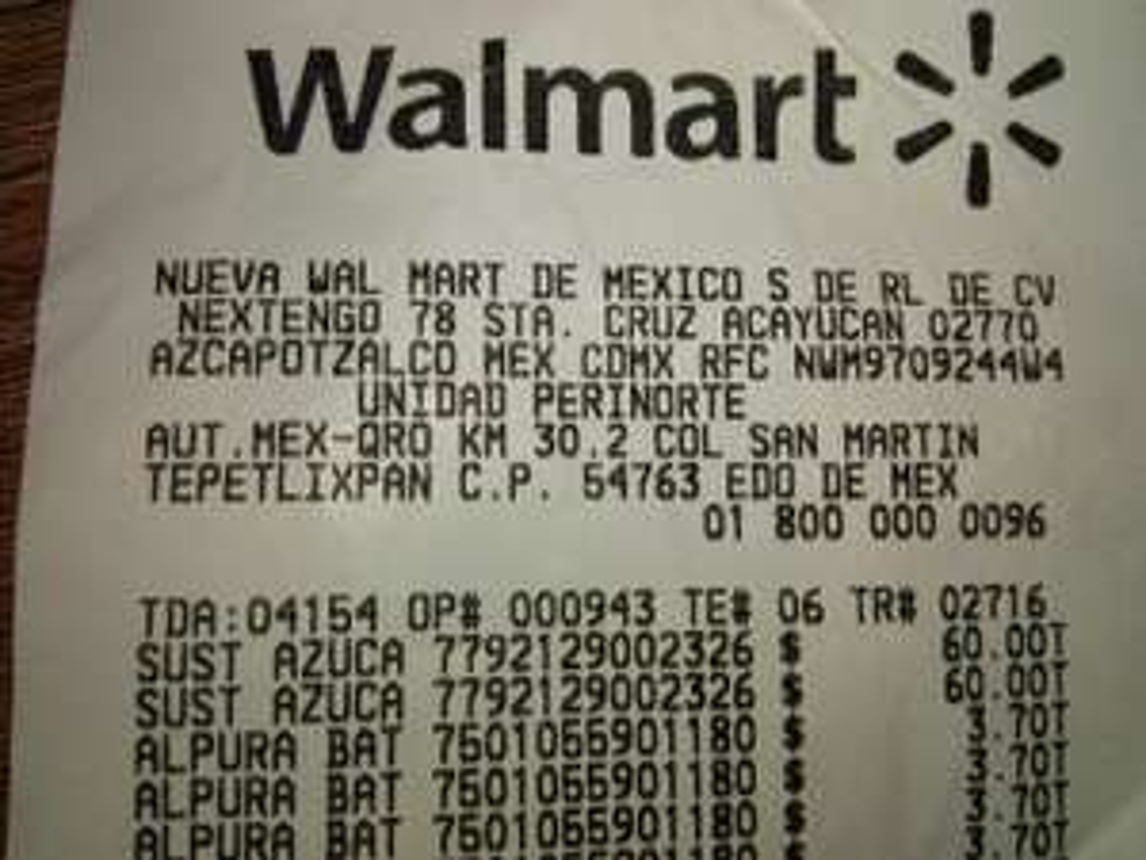 Walmart Arkana Izcalli: Canderel azul 200g a $60