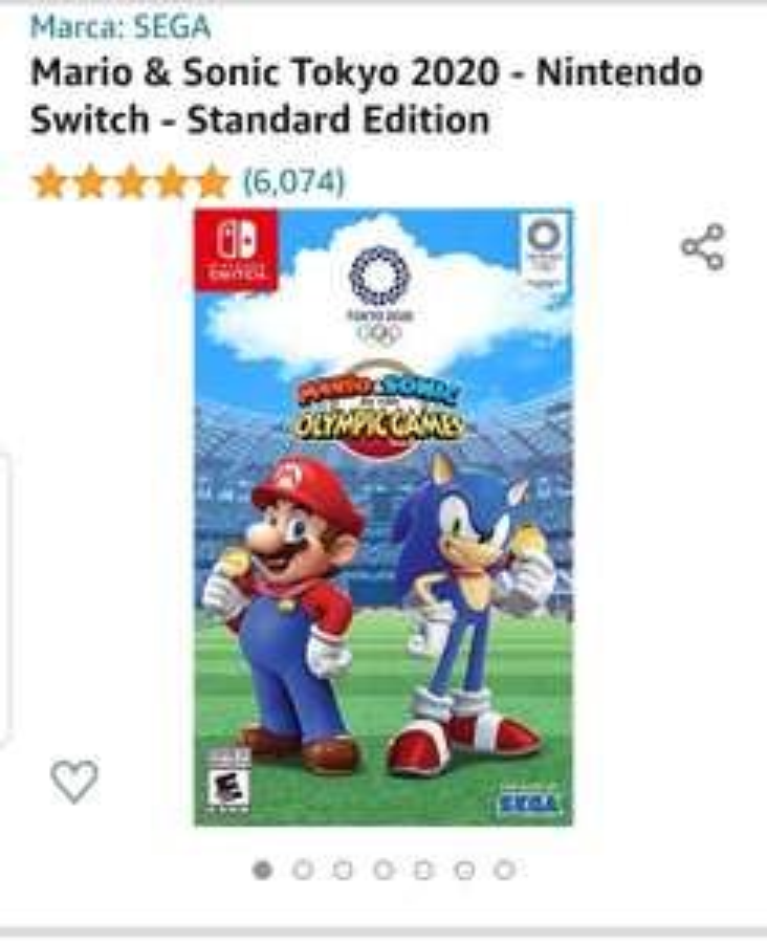 Amazon: Mario & Sonic Tokyo 2020 - Nintendo Switch - Standard Edition