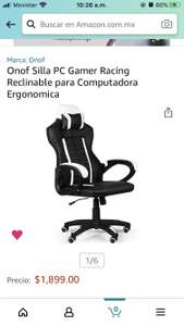 Amazon Silla Gamer Económica