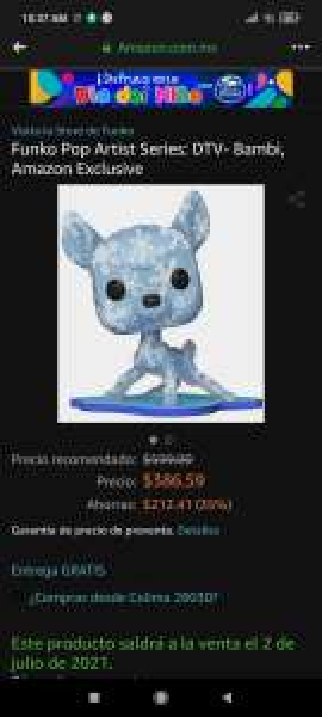 Amazon, Funko bambi arts de 599-386.59