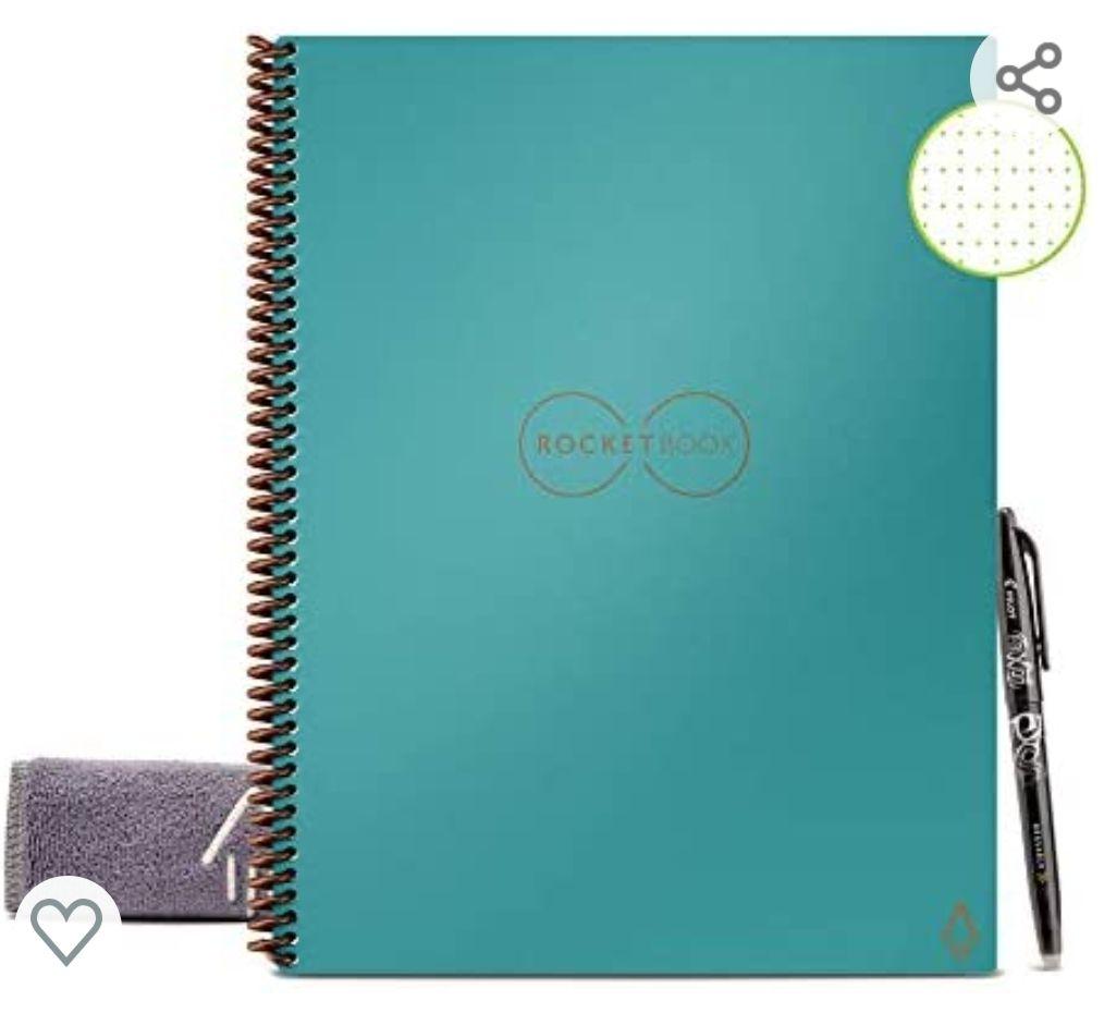 Amazon: Rocketbook tamaño carta (cuaderno inteligente)
