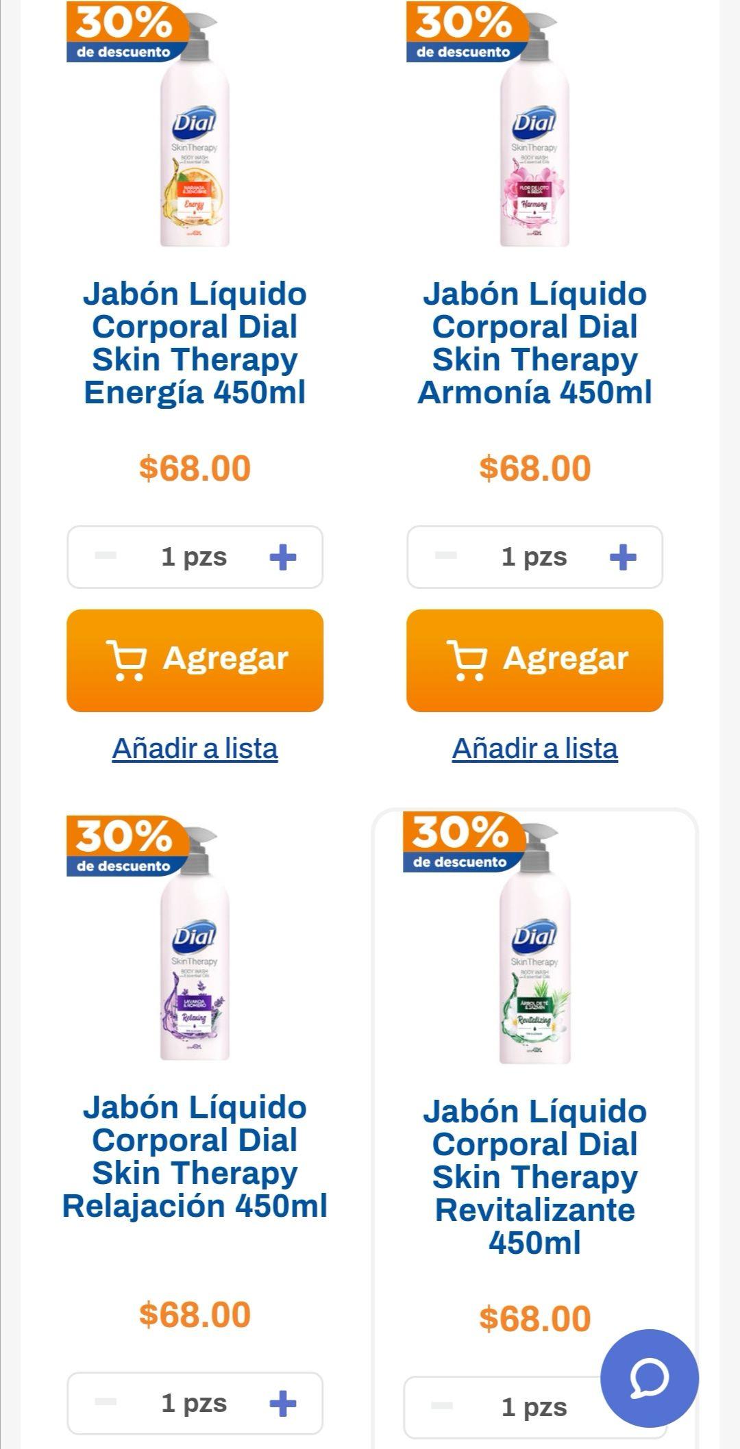 Chedraui: 30% de descuento en jabón líquido Dial Skin Therapy + Envío gratis