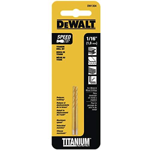 Amazon, Broca DEWALT con punta de Titanio 1/16 pulgadas (2 piezas)