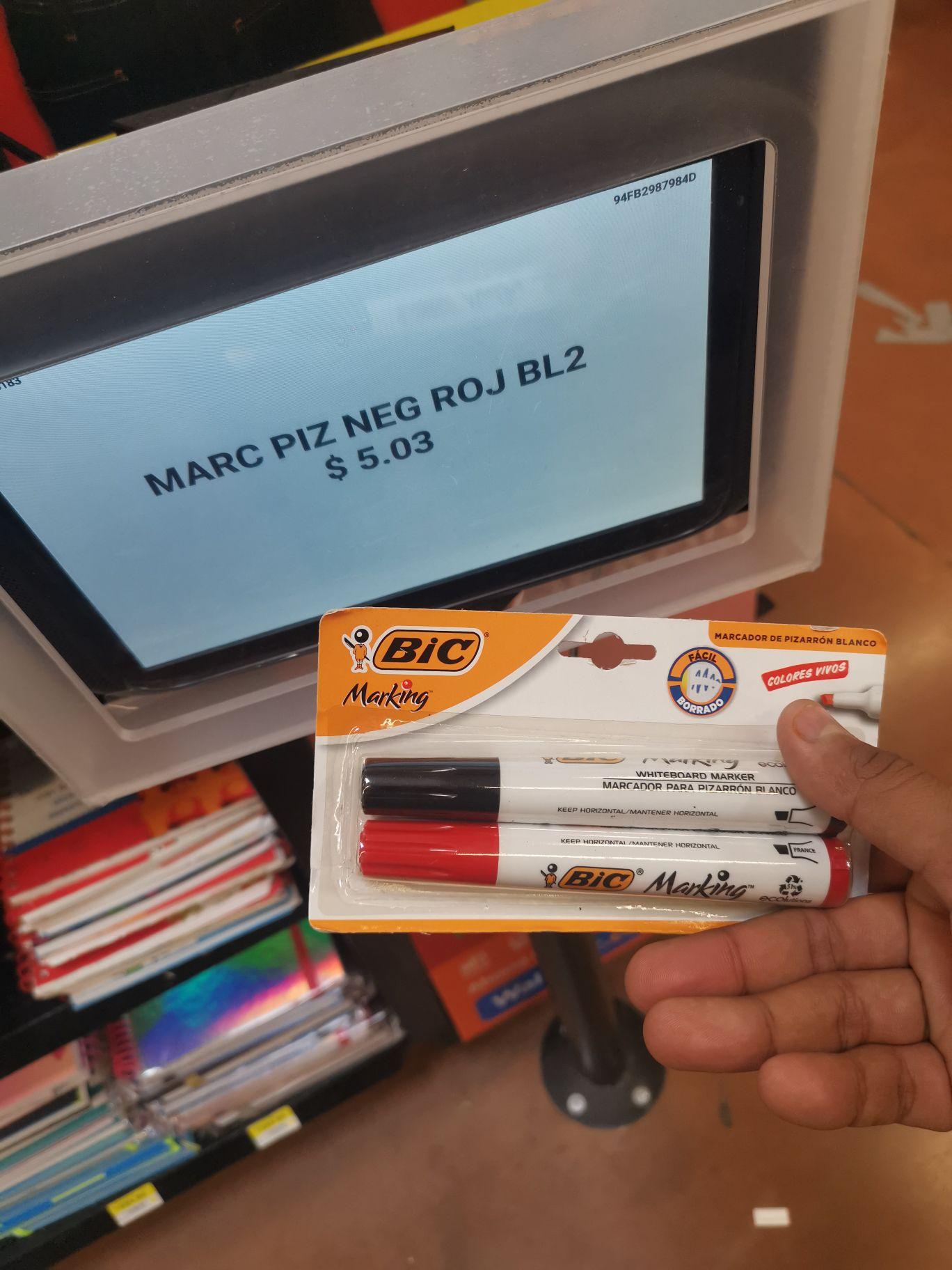 Walmart: Paquete de 2 plumones marca BIC
