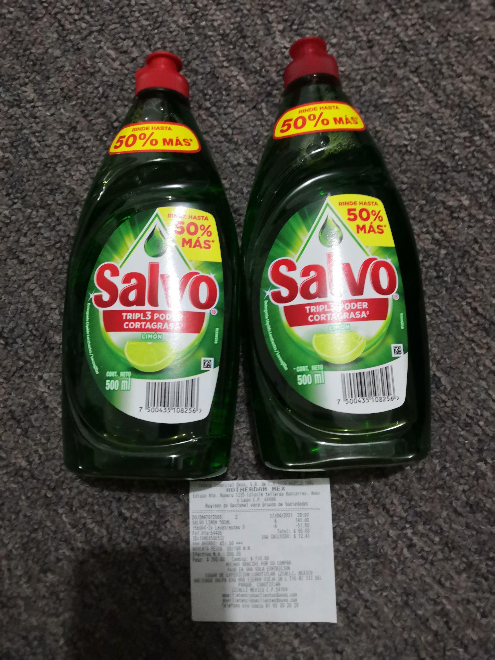Oxxo: Jabón Salvo líquido de 500 ML al 2x1 en Oxxo