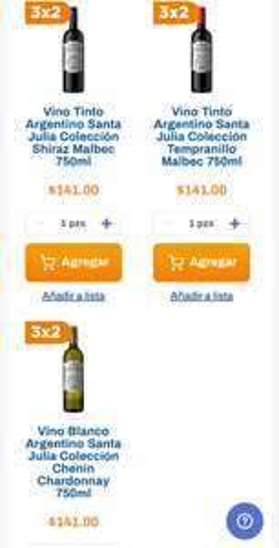 Chedraui: 3 x 2 en vinos tintos Colección Santa Julia