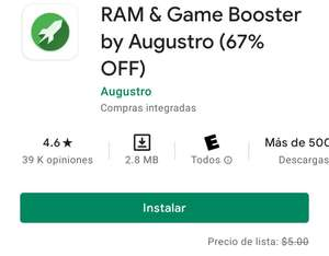 Google Play: RAM y game booster