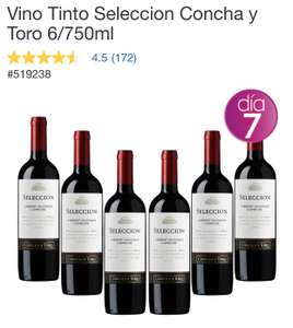Costco: Vino Tinto Seleccion Concha y Toro 6/750ml