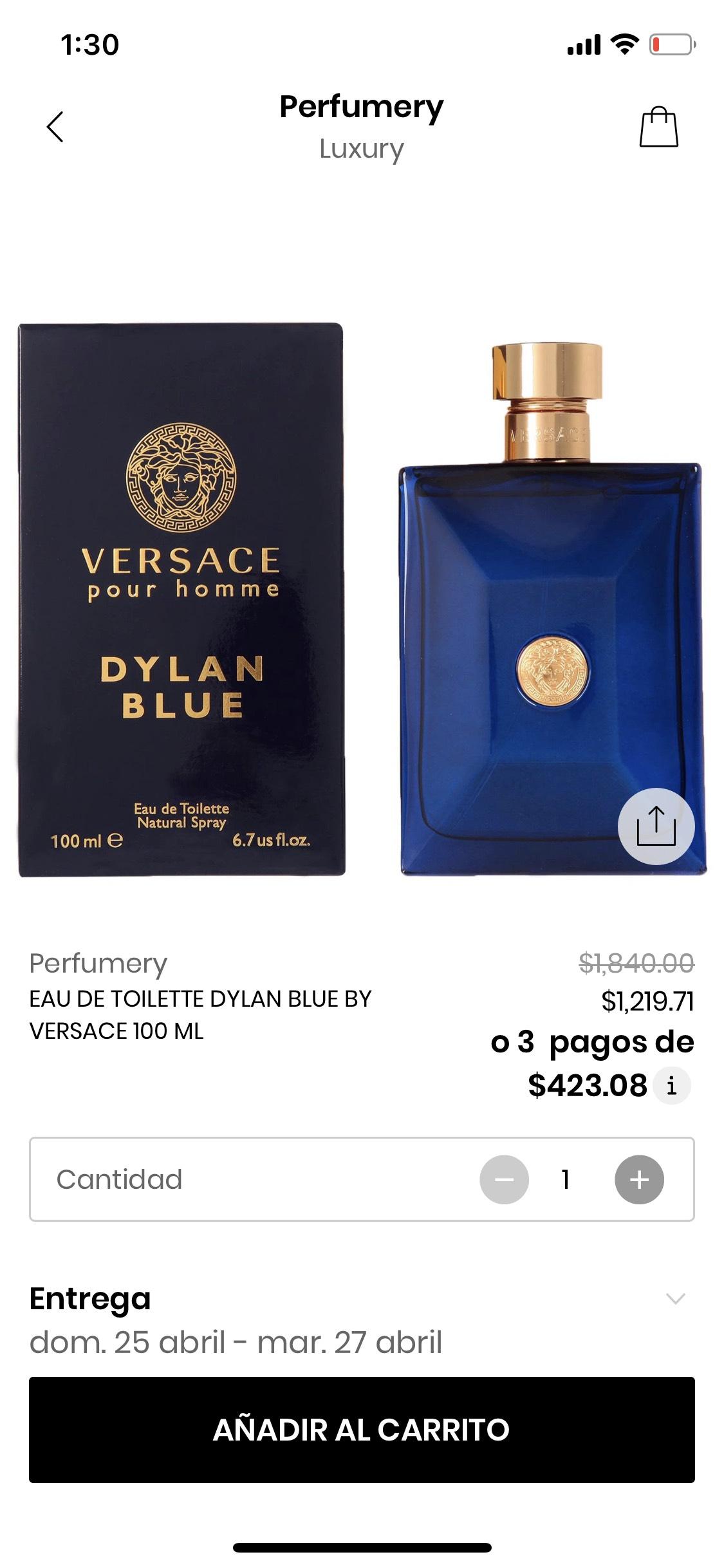 Privalia: perfume Versace Dylan Blue