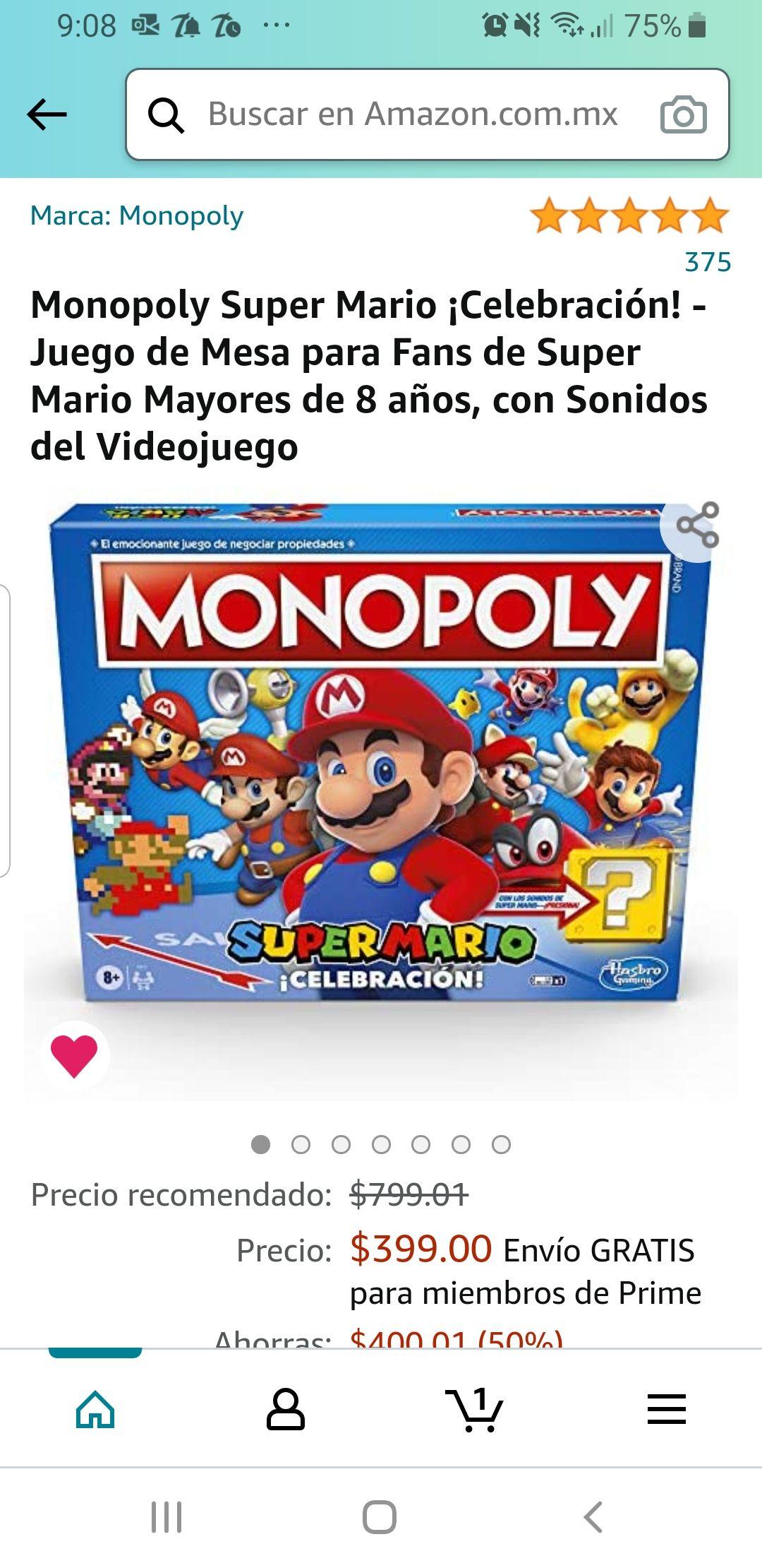 Amazon: Monopoly Super Mario Celebración