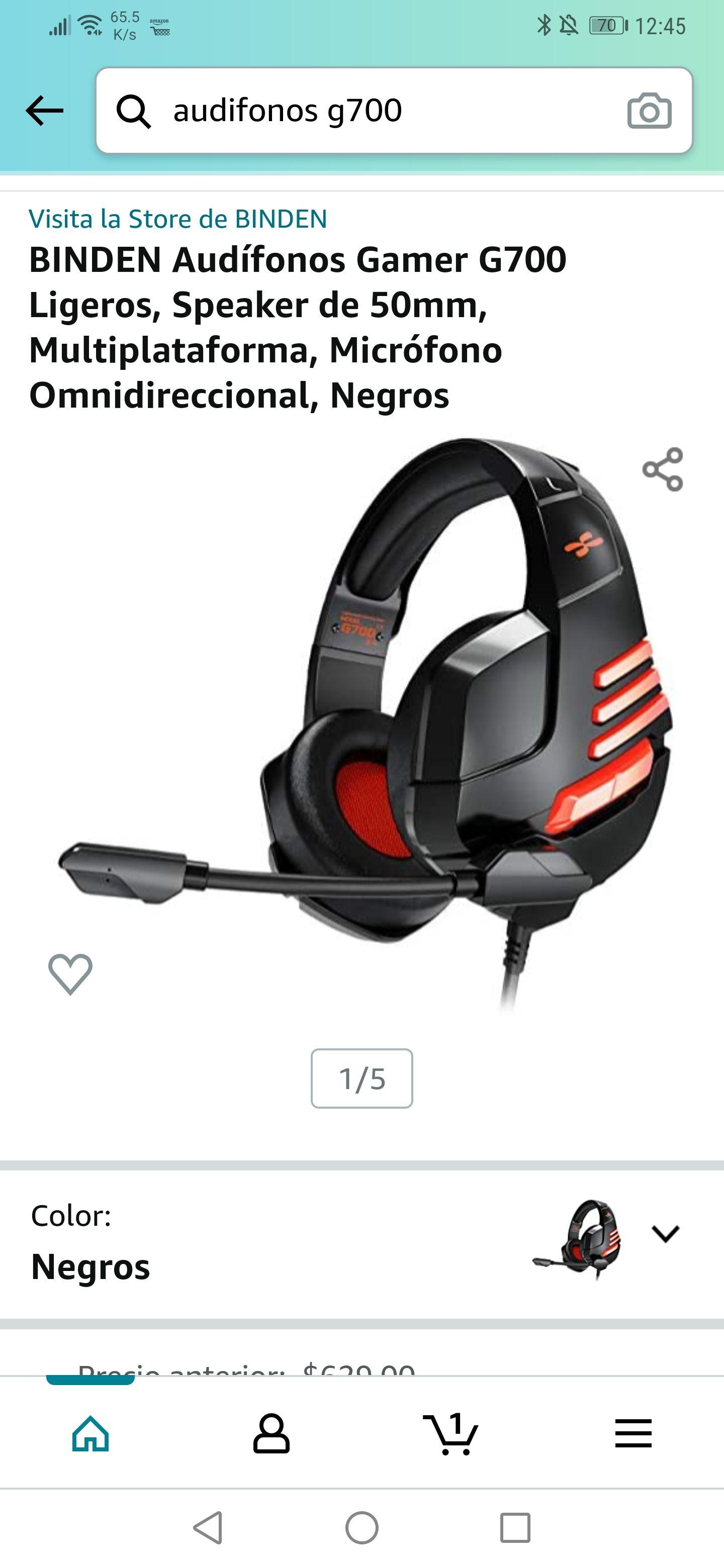 Amazon: Audífonos Gamer Biden G700 y G800 con cancelación de ruido