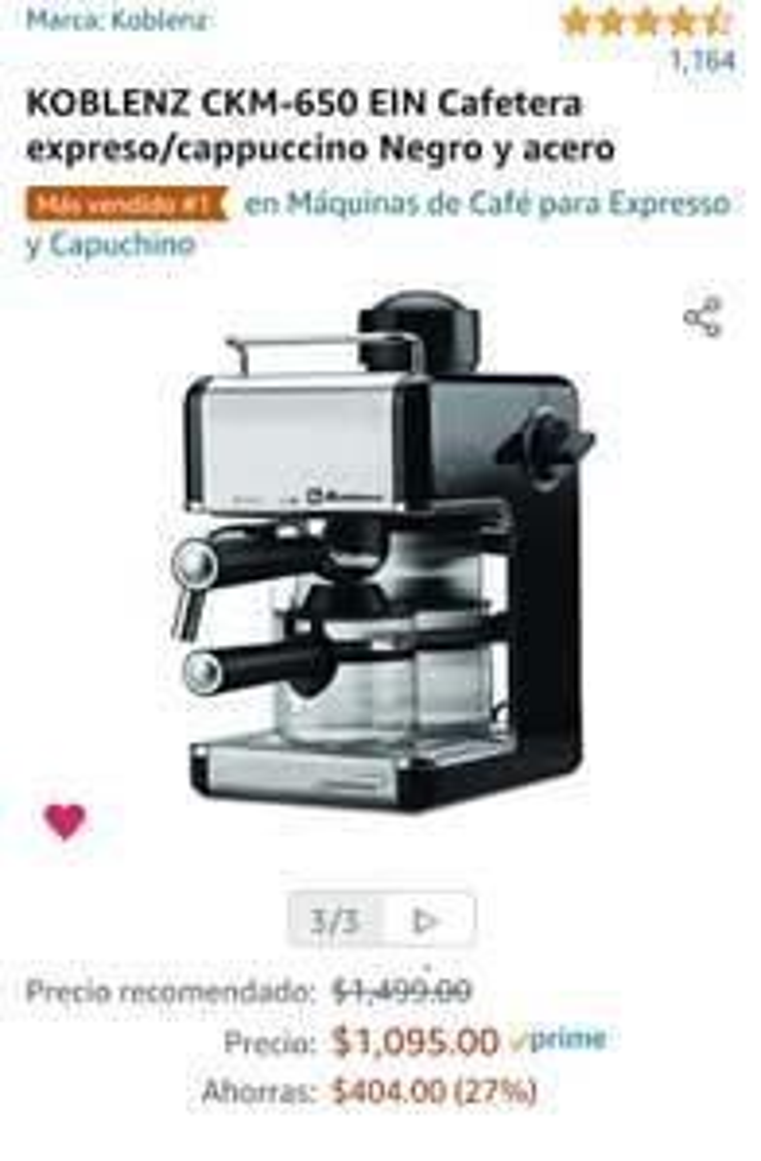 Amazon: Cafetera para unos capuchinos o para unos carajillos