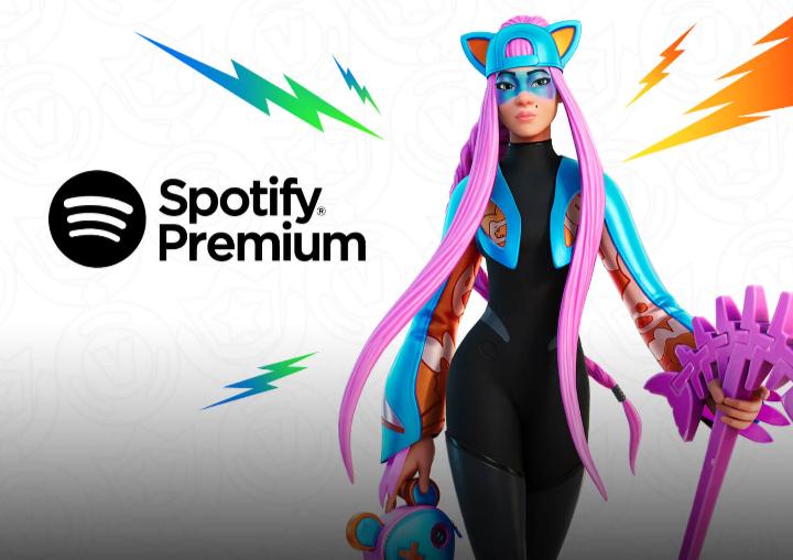 Primeros 3 meses de Spotify Premium GRATIS con Fortnite Crew