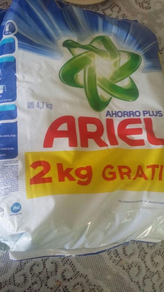 Walmart: detergente Ariel 4.7kg a $89
