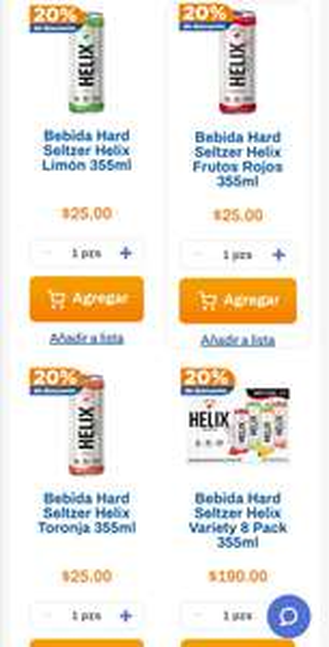 Chedraui: 20% de descuento en bebidas Hard Seltzer Helix 355 ml